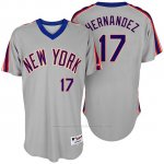 Camiseta Beisbol Hombre New York Mets Keith Hernandez Turn Back The Clock Gris