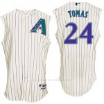 Camiseta Beisbol Hombre Arizona Diamondbacks 24 Yasmany Tomas Blanco Turn Back The Clock