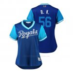 Camiseta Beisbol Mujer Kansas City Royals Brad Keller 2018 Llws Players Weekend B. K. Royal