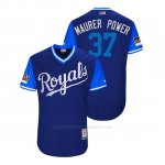 Camiseta Beisbol Hombre Kansas City Royals Brandon Maurer 2018 Llws Players Weekend Maurer Power Royal