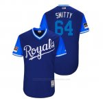 Camiseta Beisbol Hombre Kansas City Royals Burch Smith 2018 Llws Players Weekend Smitty Royal