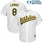 Camiseta Beisbol Hombre Oakland Athletics Jed Lowrie Blanco Cool Base