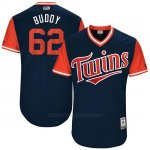 Camiseta Beisbol Hombre Minnesota Twins 2017 Little League World Series Buddy Boshers Azul