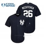 Camiseta Beisbol Hombre New York Yankees Andrew Mccutchen Cool Base Replica Alternato Azul