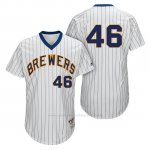 Camiseta Beisbol Hombre Milwaukee Brewers Corey Knebel Blanco 1982 Turn Back The Clock