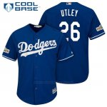 Camiseta Beisbol Hombre Los Angeles Dodgers 2017 Postemporada Chase Utley Cool Base
