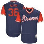 Camiseta Beisbol Hombre Atlanta Braves 2017 Little League World Series 36 Aaron Blair Azul
