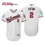 Camiseta Beisbol Hombre Washington Nationals Adam Eaton Flex Base Entrenamiento de Primavera 2019 Blanco