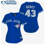Camiseta Beisbol Hombre Toronto Blue Jays R.a. Dickey 43 Azul Cool Base