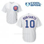 Camiseta Beisbol Hombre Chicago Cubs 10 Ron Santo Blanco 1ª Cool Base