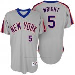 Camiseta Beisbol Hombre New York Mets New York Met David Wright Turn Back The Clock Gris