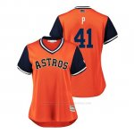 Camiseta Beisbol Mujer Houston Astros Brad Peacock 2018 Llws Players Weekend P Orange