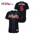 Camiseta Beisbol Hombre Atlanta Braves Freddie Freeman 150th Aniversario Patch Autentico Flex Base Azul