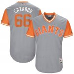 Camiseta Beisbol Hombre San Francisco Giants 2017 Little League World Series Gorkys Hernandez Gris