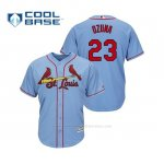 Camiseta Beisbol Hombre Cardinals Marcell Ozuna Cool Base Majestic Alternato Alternato Horizon Blue