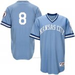Camiseta Beisbol Hombre Kansas City Royals Mike Moustakas Light Azul Turn Back The Clock