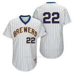Camiseta Beisbol Hombre Milwaukee Brewers Matt Garza Blanco 1982 Turn Back The Clock