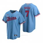 Camiseta Beisbol Hombre Minnesota Twins Joe Mauer Replica Alterno Azul