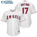 Camiseta Beisbol Hombre Los Angeles Angels 17 Shohei Ohtani Blanco Official Jugador Cool Base