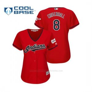 Camiseta Beisbol Mujer Cleveland Indians Lonnie Chisenhall 2019 All Star Game Patch Cool Base Rojo