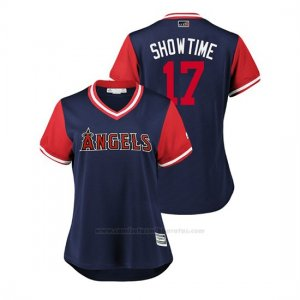 Camiseta Beisbol Mujer Los Angeles Angels Shohei Ohtani 2018 Llws Players Weekend Showtime Azul