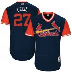 Camiseta Beisbol Hombre St. Louis Cardinals 2017 Little League World Series Brett Cecil Azul