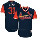 Camiseta Beisbol Hombre St. Louis Cardinals 2017 Little League World Series Lance Lynn Azul