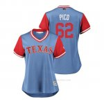 Camiseta Beisbol Mujer Texas Rangers Jose Leclerc 2018 Llws Players Weekend Pico Light Toronto Blue Jays