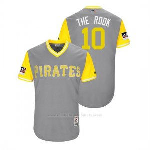 Camiseta Beisbol Hombre Pittsburgh Pirates Jordy Mercer 2018 Llws Players Weekend The Rook Gris