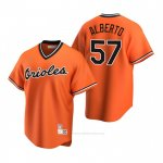 Camiseta Beisbol Hombre Baltimore Orioles Hanser Alberto Cooperstown Collection Alterno Naranja