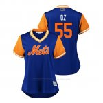 Camiseta Beisbol Mujer New York Mets Corey Oswalt 2018 Llws Players Weekend Oz Royal