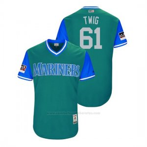 Camiseta Beisbol Hombre Seattle Mariners Casey Lawrence 2018 Llws Players Weekend Twig Aqua