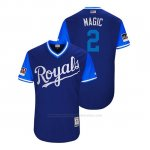 Camiseta Beisbol Hombre Kansas City Royals Alcides Escobar 2018 Llws Players Weekend Magic Royal