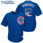 Camiseta Beisbol Hombre Chicago Cubs 12 Kyle Schwarber Cool Base
