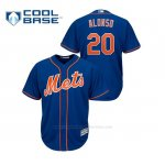 Camiseta Beisbol Hombre New York Mets Pete Alonso Cool Base Majestic Alternato Azul