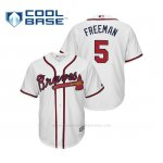 Camiseta Beisbol Hombre Atlanta Braves Freddie Freeman Cool Base Majestic Home 2019 Blanco
