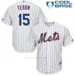 Camiseta Beisbol Hombre New York Mets 15 Tim Tebow Blanco Cool Base