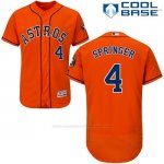 Camiseta Beisbol Hombre Houston Astros George Springer Autentico Coleccion Naranja Cool Base