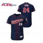 Camiseta Beisbol Hombre Minnesota Twins C.j. Cron 150th Aniversario Patch Autentico Flex Base Azul2