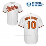 Camiseta Beisbol Hombre Baltimore Orioles 10 Adam Jones Blanco 1ª Cool Base