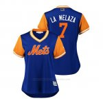 Camiseta Beisbol Mujer New York Mets Jose Reyes 2018 Llws Players Weekend La Melaza Royal