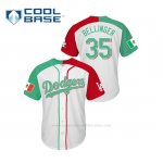 Camiseta Beisbol Hombre Los Angeles Dodgers Cody Bellinger Mexican Heritage Night Cool Base Blanco