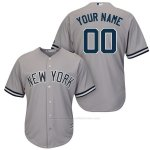 Camiseta New York Yankees Personalizada Gris