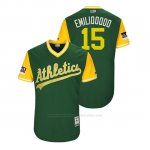 Camiseta Beisbol Hombre Oakland Athletics Emilio Pagan 2018 Llws Players Weekend Emiliooooo Green
