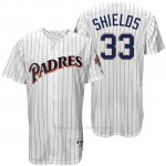 Camiseta Beisbol Hombre San Diego Padres James Shields Blanco Turn Back The Clock