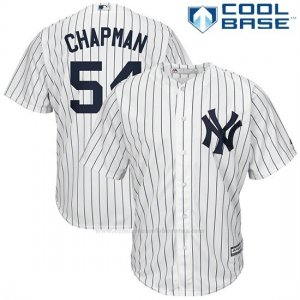 Camiseta Beisbol Hombre New York Yankees Aroldis Chapman Blanco Cool Base