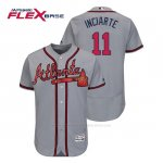 Camiseta Beisbol Hombre Atlanta Braves Ender Inciarte Flex Base Autentico Collezione Road 2019 Gris