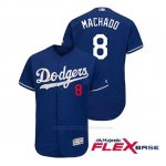 Camiseta Beisbol Hombre Los Angeles Dodgers Manny Machado Flex Base Autentico Collezione Alternato Royal