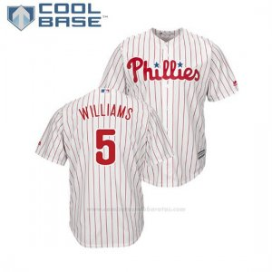 Camiseta Beisbol Hombre Philadelphia Phillies Nick Williams Cool Base 1ª Blanco