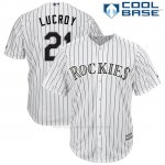 Camiseta Beisbol Hombre Colorado 21 Onathan Lucroy Blancoplayer Cool Base